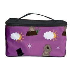Groundhog Day Pattern Cosmetic Storage Case by Valentinaart