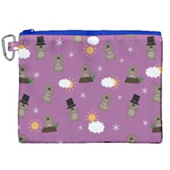 Groundhog Day Pattern Canvas Cosmetic Bag (xxl)