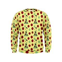 Green Dress Yellow Kids  Sweatshirt