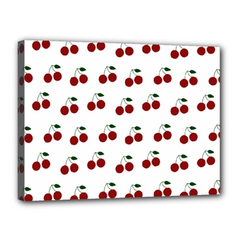 Cherries Canvas 16  X 12  by snowwhitegirl
