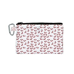 Red Cherries Canvas Cosmetic Bag (small)
