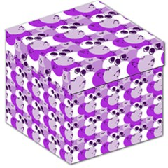 Purple Cherry Dots Storage Stool 12   by snowwhitegirl
