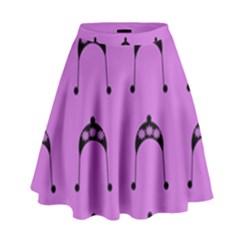 Violet Flower Hat High Waist Skirt by snowwhitegirl