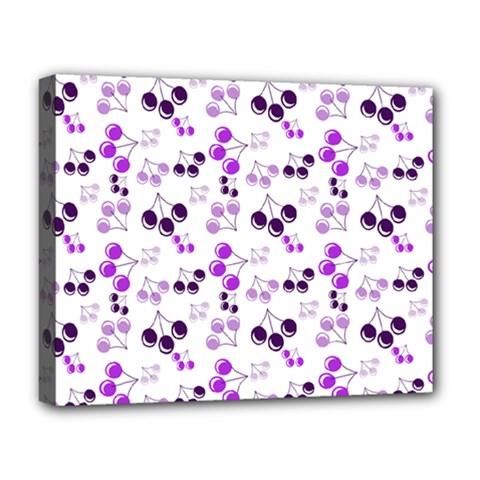Purple Cherries Deluxe Canvas 20  X 16   by snowwhitegirl