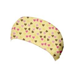 Beige Hearts Yoga Headband by snowwhitegirl