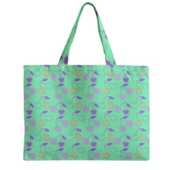 Mint Heart Cherries Zipper Mini Tote Bag by snowwhitegirl