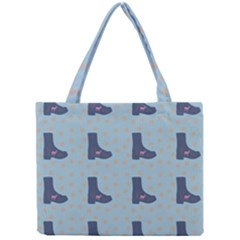Deer Boots Teal Blue Mini Tote Bag by snowwhitegirl