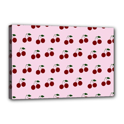 Pink Cherries Canvas 18  X 12  by snowwhitegirl