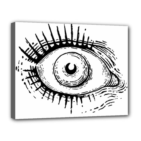 Big Eye Monster Canvas 14  X 11  by AnjaniArt