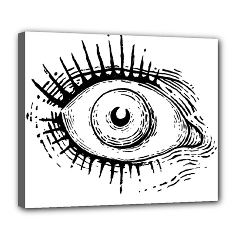 Big Eye Monster Deluxe Canvas 24  X 20   by AnjaniArt