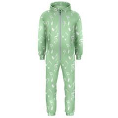 Mint Green White Music Hooded Jumpsuit (men)  by snowwhitegirl