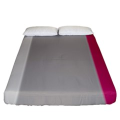 Laura Lines Fitted Sheet (king Size) by snowwhitegirl
