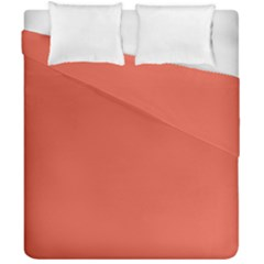 Dark Papaya Duvet Cover Double Side (california King Size)