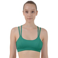 Teal Ocean Line Them Up Sports Bra