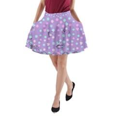 Little Face A Line Pocket Skirt by snowwhitegirl