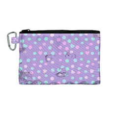 Little Face Canvas Cosmetic Bag (medium) by snowwhitegirl