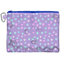 Little Face Canvas Cosmetic Bag (xxl) by snowwhitegirl
