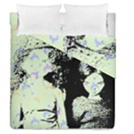Mint Wall Duvet Cover Double Side (Queen Size)