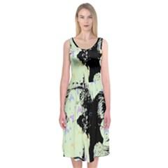 Mint Wall Midi Sleeveless Dress by snowwhitegirl