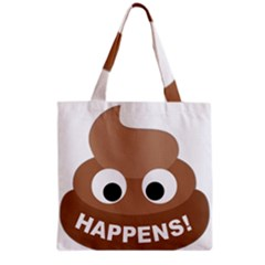 Poo Happens Grocery Tote Bag by Vitalitee