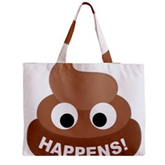Poo Happens Zipper Medium Tote Bag by Vitalitee