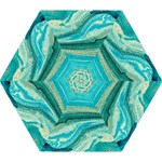 Mint,gold,marble,nature,stone,pattern,modern,chic,elegant,beautiful,trendy Mini Folding Umbrellas