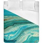 Mint,gold,marble,nature,stone,pattern,modern,chic,elegant,beautiful,trendy Duvet Cover (California King Size)