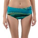 Mint,gold,marble,nature,stone,pattern,modern,chic,elegant,beautiful,trendy Reversible Mid-Waist Bikini Bottoms