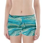 Mint,gold,marble,nature,stone,pattern,modern,chic,elegant,beautiful,trendy Boyleg Bikini Wrap Bottoms