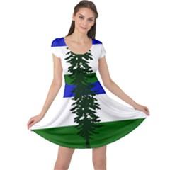Flag Of Cascadia Cap Sleeve Dress by abbeyz71