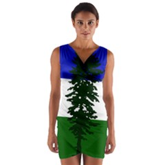 Flag Of Cascadia Wrap Front Bodycon Dress by abbeyz71