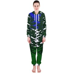 Flag Of Cascadia Hooded Jumpsuit (ladies)  by abbeyz71