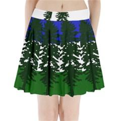 Flag Of Cascadia Pleated Mini Skirt by abbeyz71