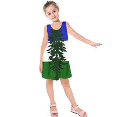 Flag Of Cascadia Kids  Sleeveless Dress by abbeyz71