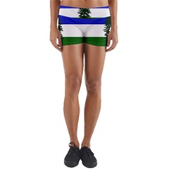 Flag Of Cascadia Yoga Shorts by abbeyz71