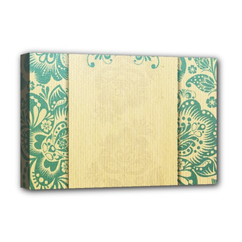 Art Nouveau Green Deluxe Canvas 18  X 12   by 8fugoso