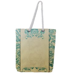 Art Nouveau Green Full Print Rope Handle Tote (large) by 8fugoso
