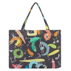 Repetition Seamless Child Sketch Zipper Medium Tote Bag by Nexatart