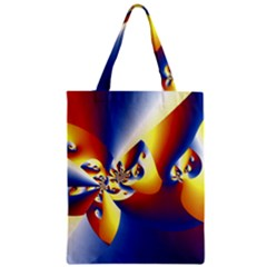 Mandelbrot Math Fractal Pattern Zipper Classic Tote Bag by Nexatart