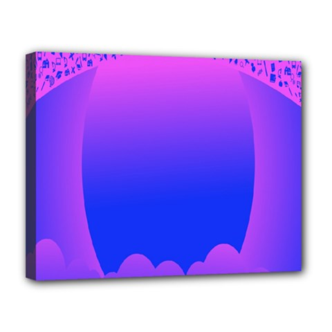 Abstract Bright Color Canvas 14  X 11  by Nexatart