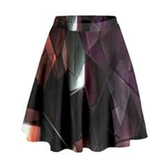 Crystals Background Design Luxury High Waist Skirt by Nexatart