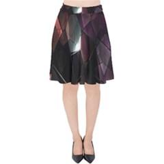 Crystals Background Design Luxury Velvet High Waist Skirt by Nexatart