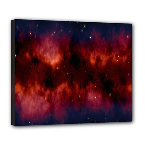 Astronomy Space Galaxy Fog Deluxe Canvas 24  X 20   by Nexatart