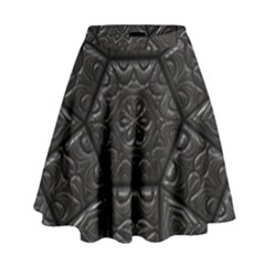 Emboss Luxury Artwork Depth High Waist Skirt by Nexatart