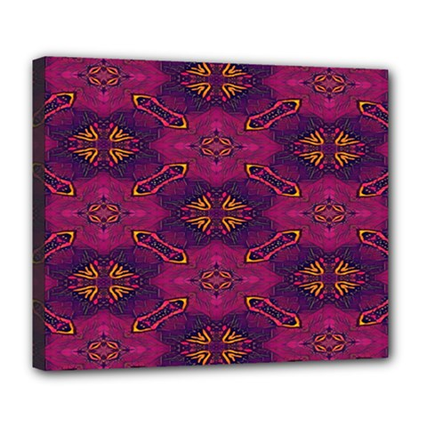 Pattern Decoration Art Abstract Deluxe Canvas 24  X 20