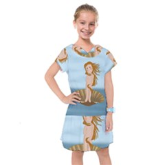 The Birth Of Venus Kids  Drop Waist Dress