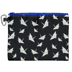 Paper Cranes Pattern Canvas Cosmetic Bag (xxl) by Valentinaart