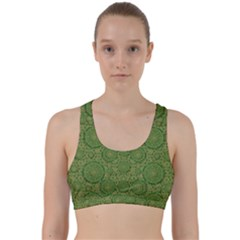 Stars In The Wooden Forest Night In Green Back Weave Sports Bra by pepitasart