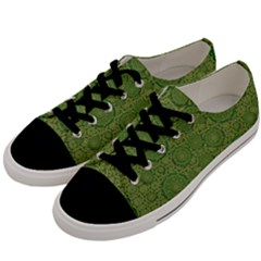 Stars In The Wooden Forest Night In Green Men s Low Top Canvas Sneakers by pepitasart