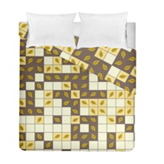 Autumn Leaves Pattern Duvet Cover Double Side (full/ Double Size) by linceazul